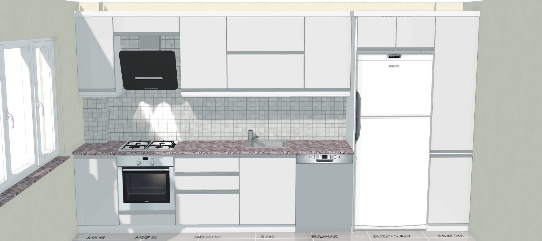 3D modeling kitchen | 3D model