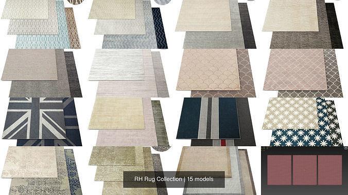 rh rug collection 3d model max obj mtl 1
