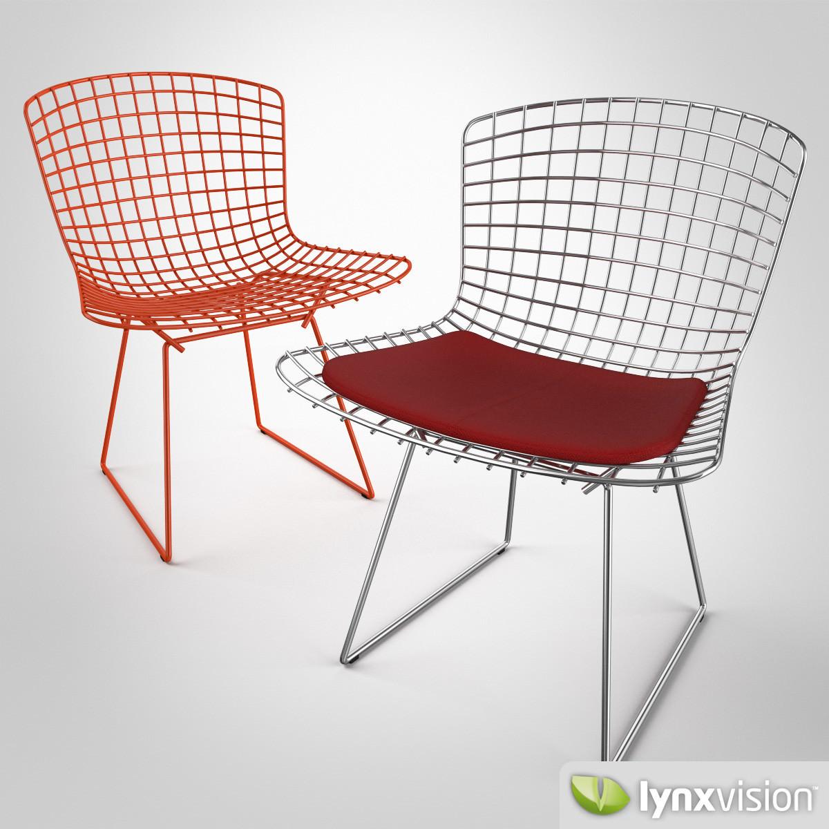 Bertoia chair knoll - Bertoia Chair By Knoll 3d Model Max Obj Fbx Mtl 1