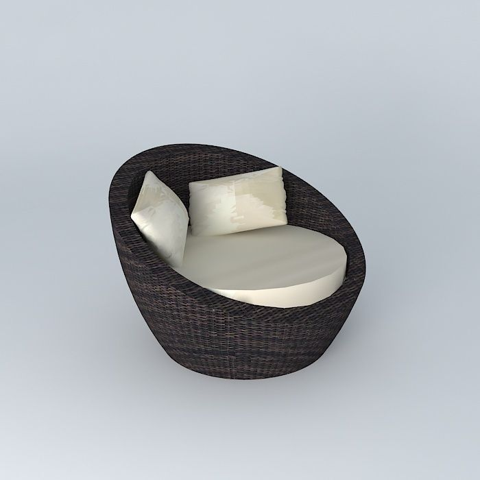 Round armchair BALI houses the world