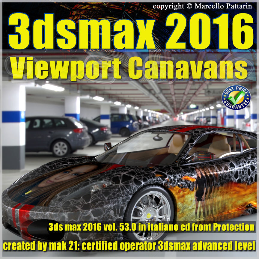 053 3dsmax 2016 Viewport Canavans V53 Italiano Cd Front