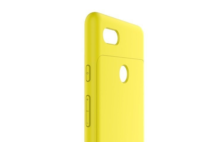 google pixel 3xl yellow case customizable design 3d model 3d model obj mtl 3ds fbx stl 3dm skp 1