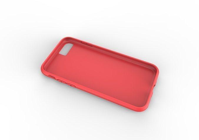 iphone 8  red case original customizable design 3d model 3ds fbx stl 3dm skp ige igs iges 1
