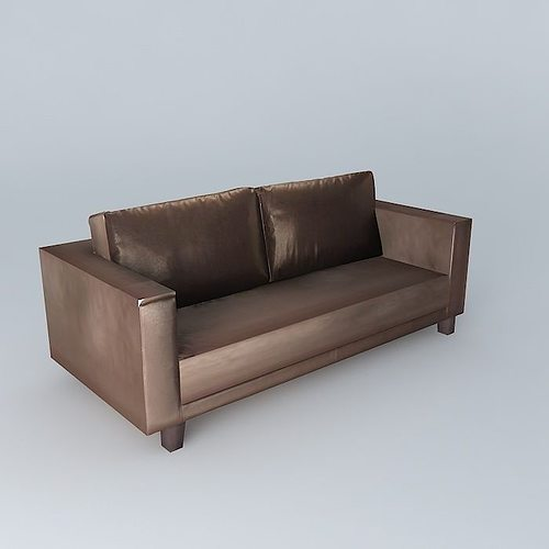 3 seater brown sofa nikeo houses of the world 3d model max obj 3ds fbx stl dae 1