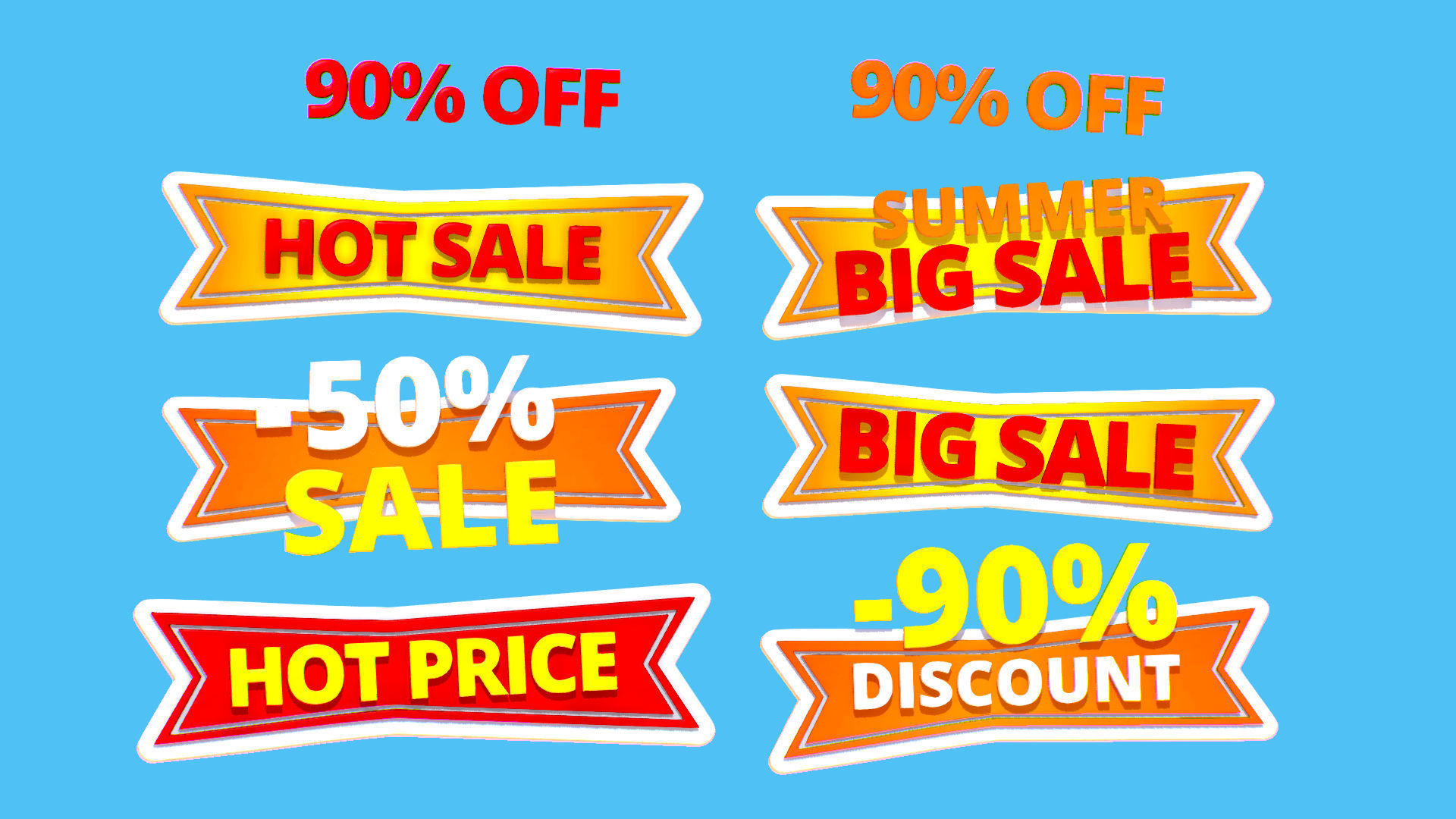 Animated Subdivision Sale Discount Text Logotype Sign