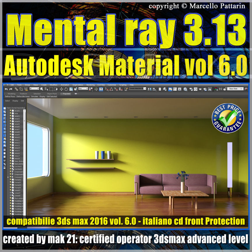 Mental ray 3 13 in 3dsmax 2015 Vol 6 Autodesk Material cd front
