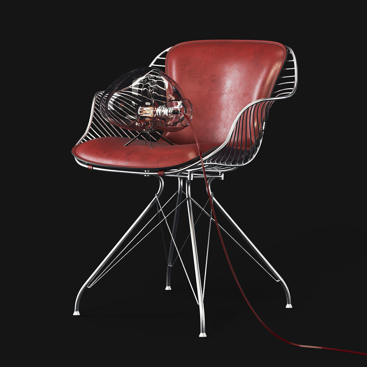 The Wire Dining Chair was the first piece in the Wire Collection