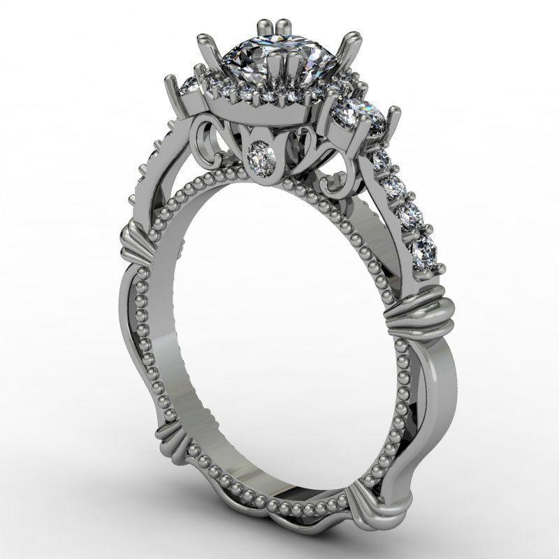 Fantasy luxury engagement ring
