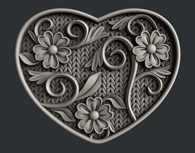 3d STL models for CNC router Love Hearth