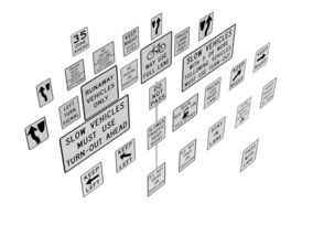 3D Road Sign US R4 Series Regulation Of Movement BIM