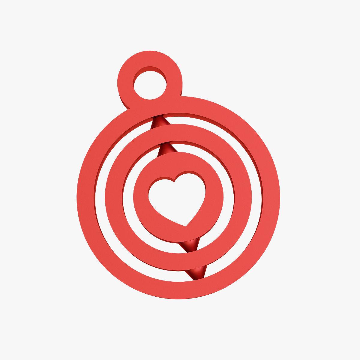 Heart symbol keychain