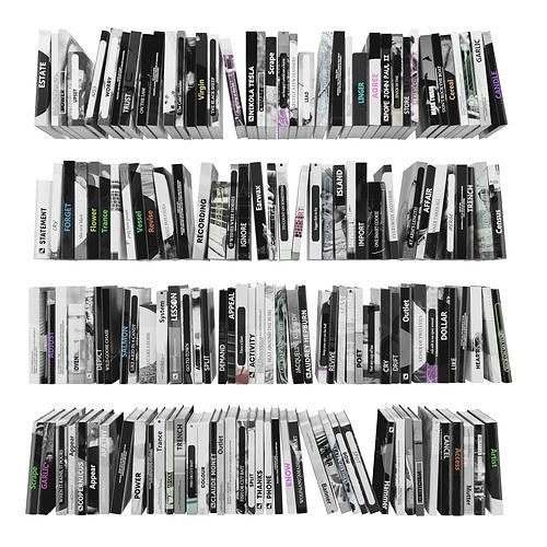 books 150 pieces 2-2-4 3d model max obj mtl fbx stl 1