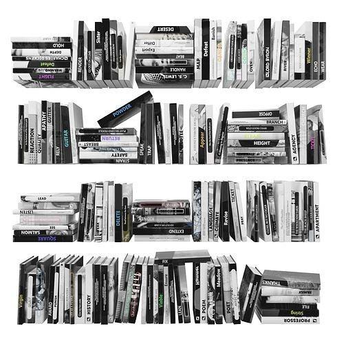 books 150 pieces 2-3-4 3d model max obj mtl fbx stl 1