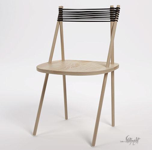 purist chair 3d model max 1