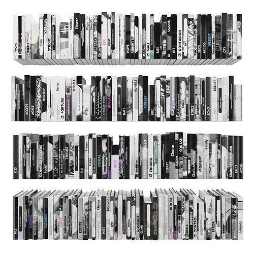 books 150 pieces 2-7-5 3d model max obj mtl fbx stl 1