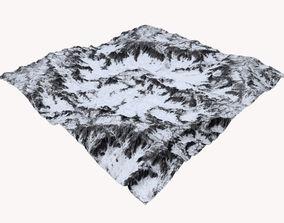 3D Snowy Terrain MTH089