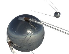 spacecraft 3D model Sputnik-1