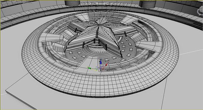 scifi studio 3d model max obj mtl fbx 1