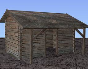 3D model Wooden storehouse
