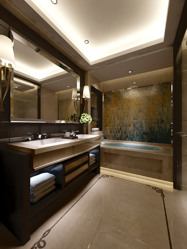 luxury bathroom 3d model max 1
