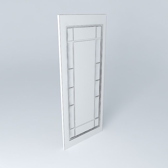French doors craftsman glassby ray bradley free 3d model for Craftsman french doors