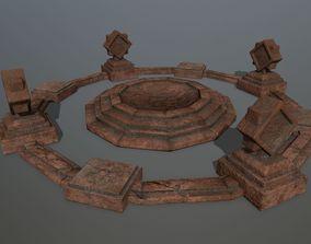 3D model temple 3