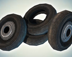 3D asset Car Tires