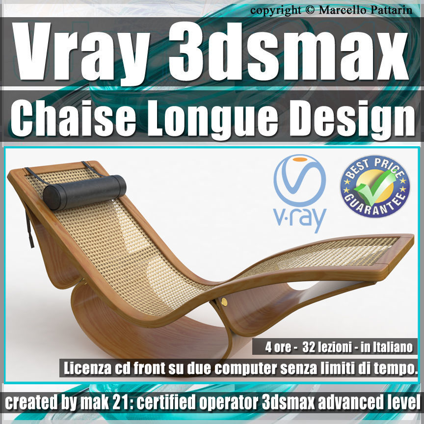 001 Vray 3ds max Chaise Longue Design Volume 1