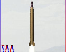 Emad Ballistic Missile 3D