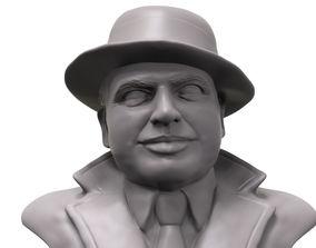 Al Capone 3D printable portrait sculpture