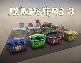 3D asset Dumpsters 3