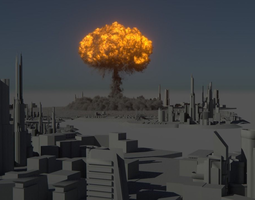 Houdini Power Asset - Nuclear Explosion animated