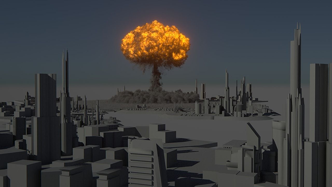houdini power asset - nuclear explosion 3d model rigged animated hda hip bgeo geo bclip clip hipnc 1