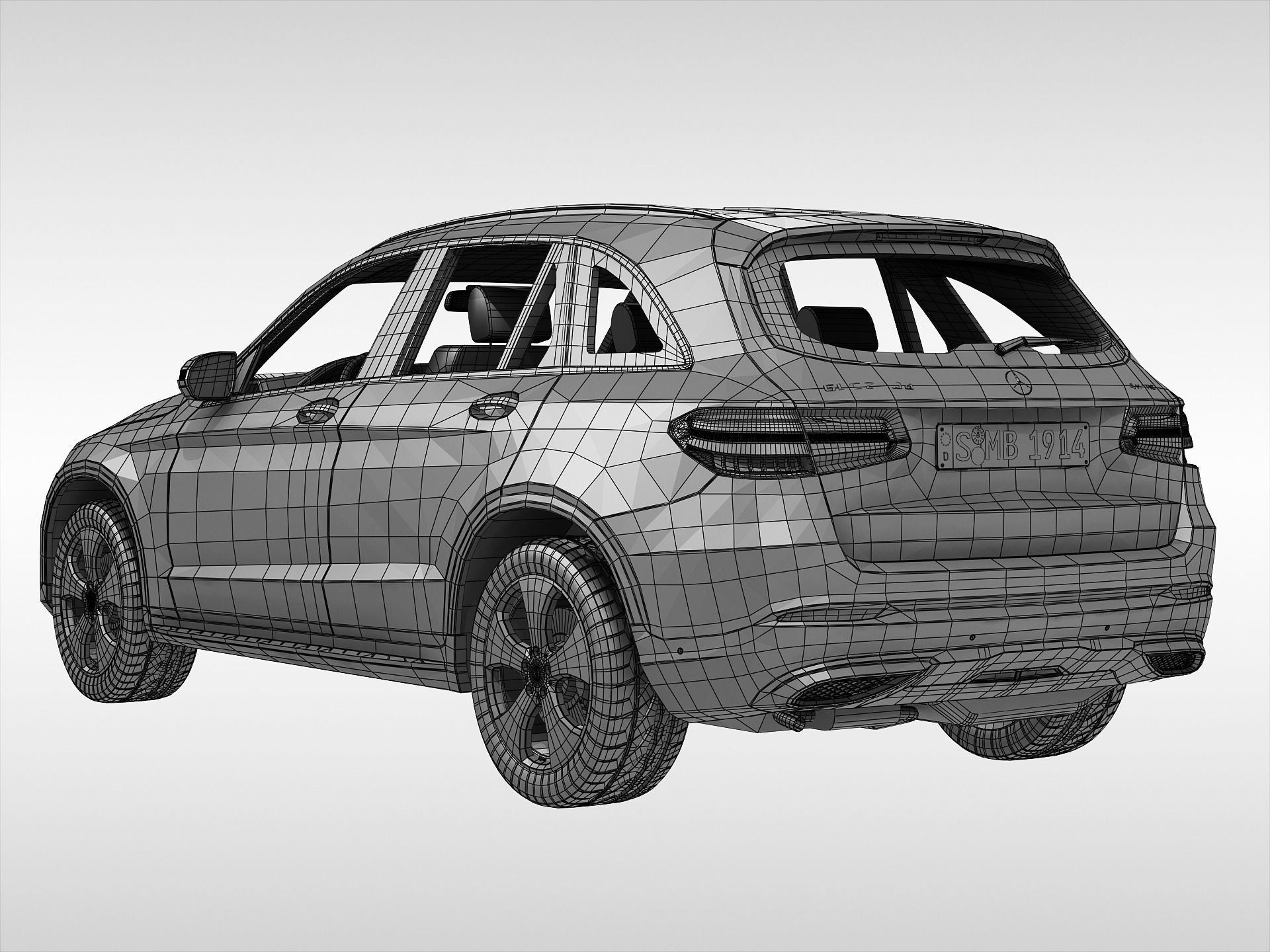 Mercedes benz glc class 2016 3d model max obj 3ds fbx 11