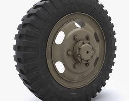 weel tire 3d model max obj fbx w3d