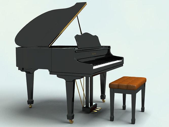 piano 3d model max obj mtl 3ds fbx 1