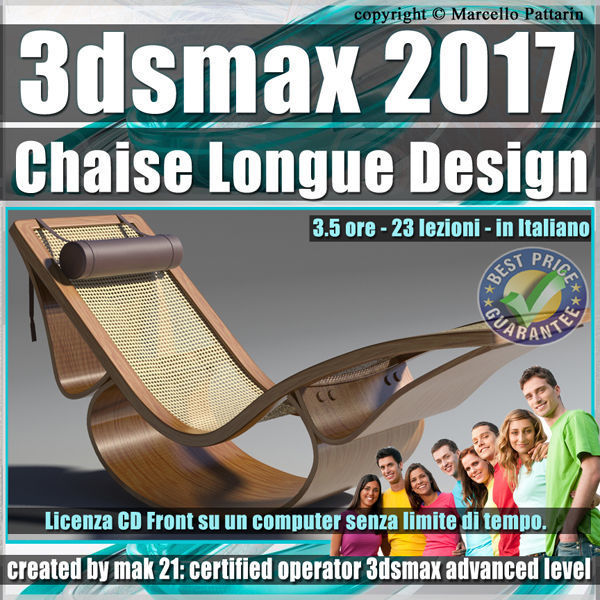 028 3ds max 2017 Chaise Longue v28 Italiano cd front