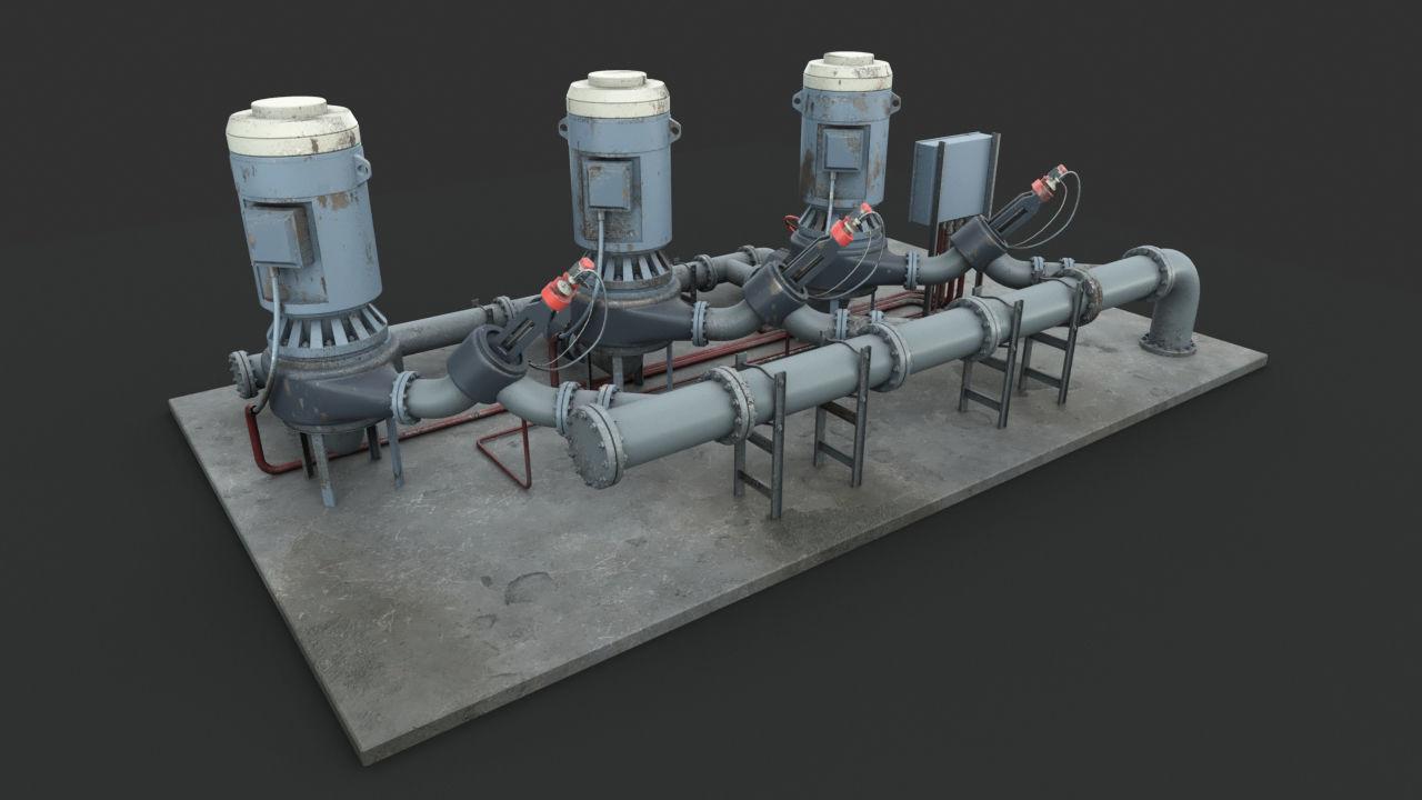 Machinery device Pump station
