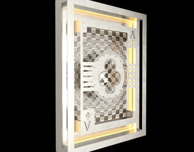 3D Hustle Ace Of Clubs lamp on the wall