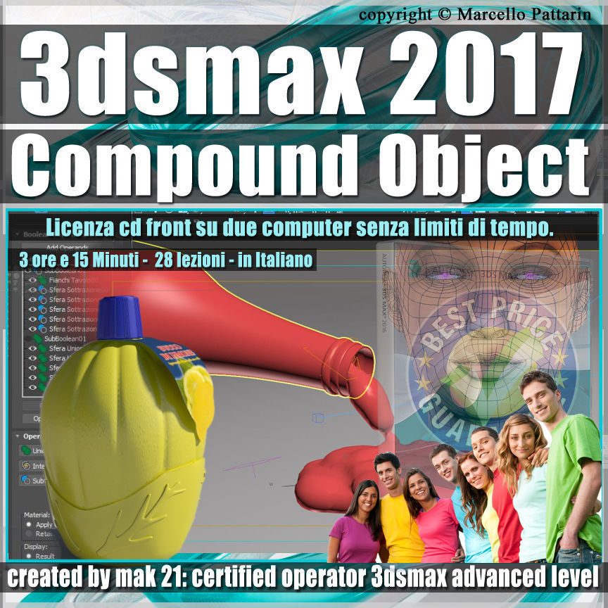 004 3ds max 2017 Compound Object vol 4 CD Front