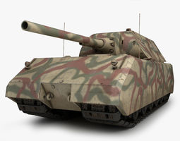 maus german tank 1 3d model max obj 3ds fbx