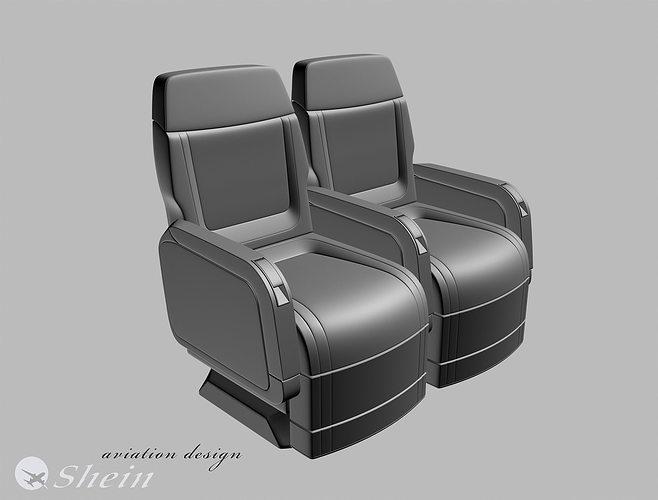 airplane seat of vip class  3d model max obj mtl 3dm 1