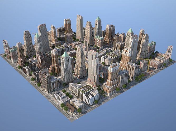 city kc7 art deco 3d model max obj mtl 3ds fbx c4d lwo lw lws 1