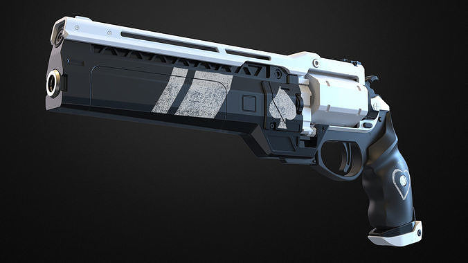 ace of spades hand cannon - destiny 3d model stl pdf 1