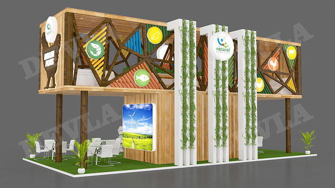 exhibition stand 5 3d model max 1