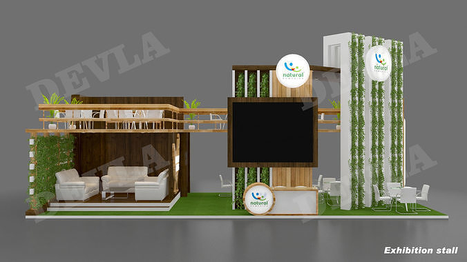 exhibition stall 08 3d model max 1