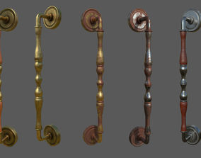 Door Handle Low Poly PBR Unreal 3D model