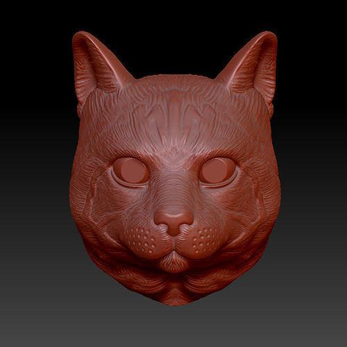 cat head model 3d model obj mtl 3ds fbx c4d stl dae 1