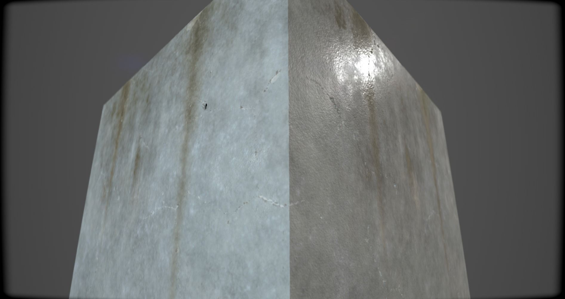 Concrete wall texture damp with leaks free 3d model - Exterior textured masonry paint model ...