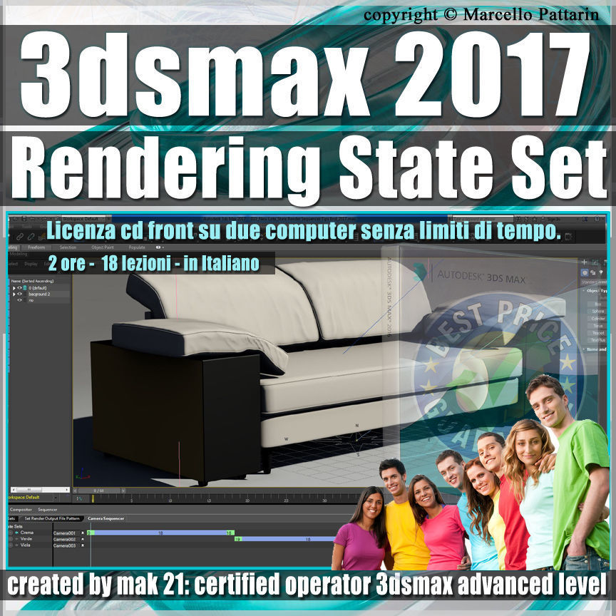 003 3ds max 2017 Rendering State Set vol 3 CD Front